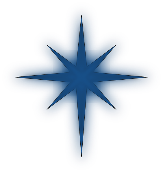 Solid star clipart svg royalty free library North Star Solid Blue Clip Art at Clker.com - vector clip art online ... svg royalty free library