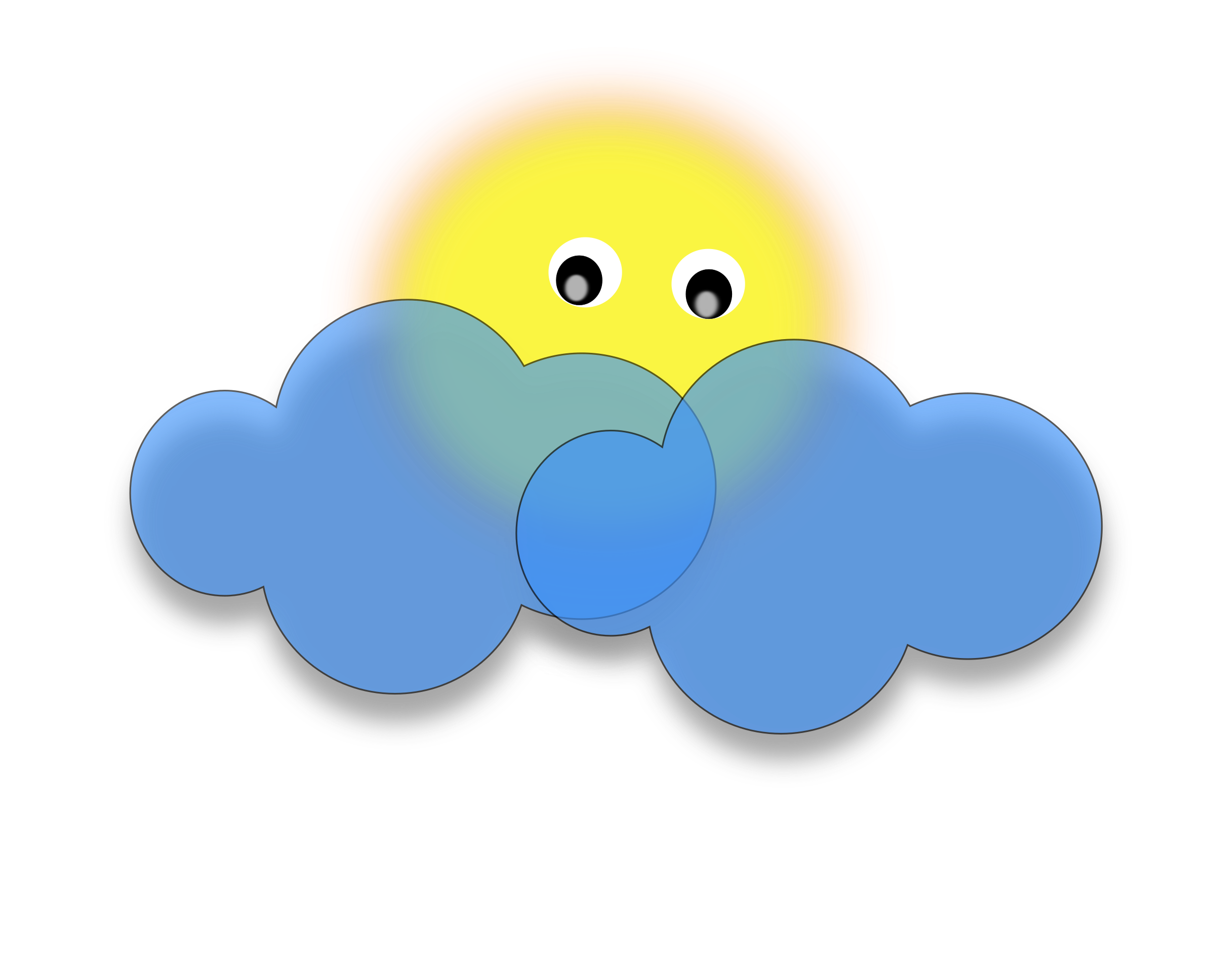 Blue sun clipart clipart library 28+ Collection of Sun In Clouds Clipart | High quality, free ... clipart library