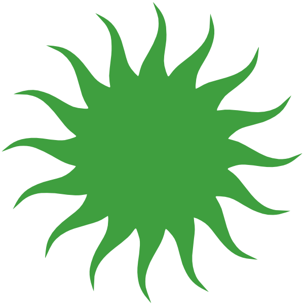 Blue sun clipart clip art free stock Green Sun Clip Art at Clker.com - vector clip art online, royalty ... clip art free stock