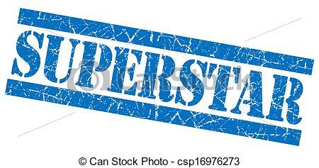 Blue super star clipart. Stock illustrations of superstar