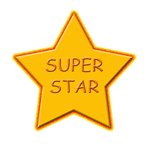 Free clipartfest ms evans. Blue super star clipart