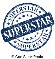 Superstar and stock illustrations. Blue super star clipart