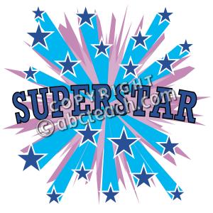 Clip art free download. Blue super star clipart