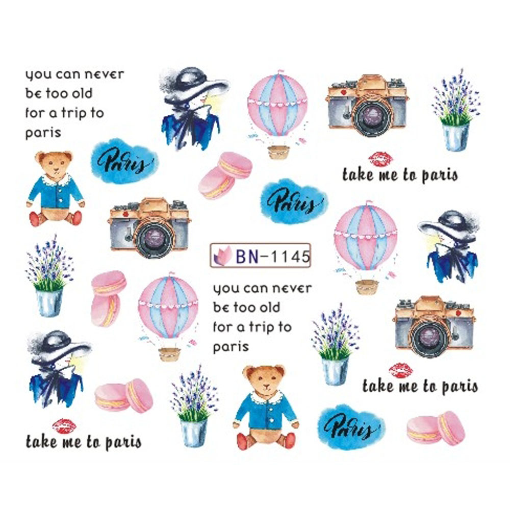 Blue take me to paris clipart font image royalty free library US $0.33 17% OFF|1pcs Water Nail Stickers Romantic Paris Watermark Slider  Tattoo Perfume Decals Wraps Beauty Nail Art Decor Tips JIBN1141 1152-in ... image royalty free library