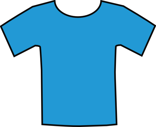 Blue tee shirt clipart vector black and white download Blue T-shirt Clip Art at Clker.com - vector clip art online, royalty ... vector black and white download