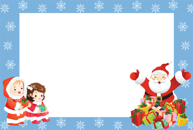 Christmas presents border clipart clip art library library Christmas Borders and Frames 6. Blue Borders 2. clip art library library