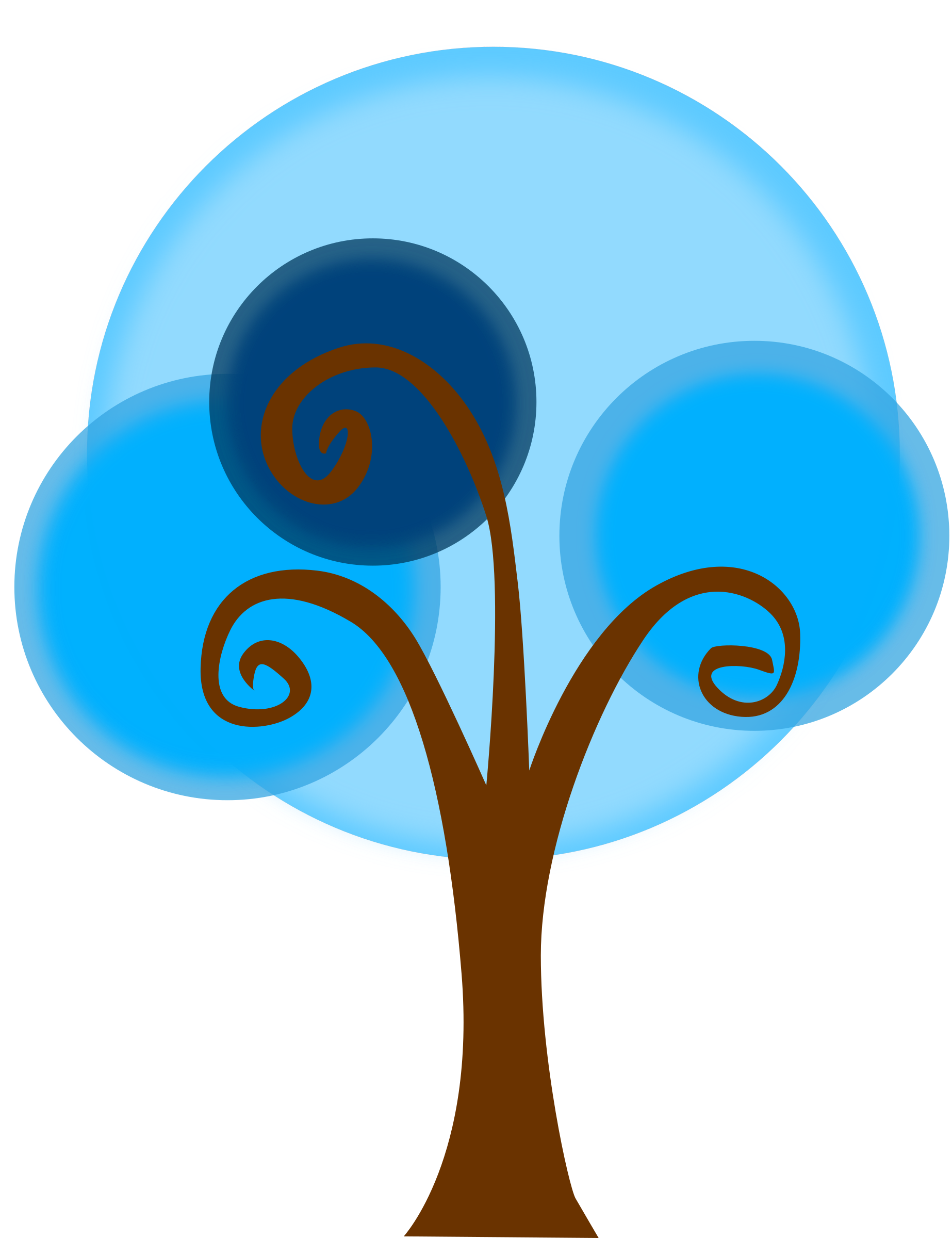 Blue tree clipart picture library download Clipart - Blue Tree picture library download