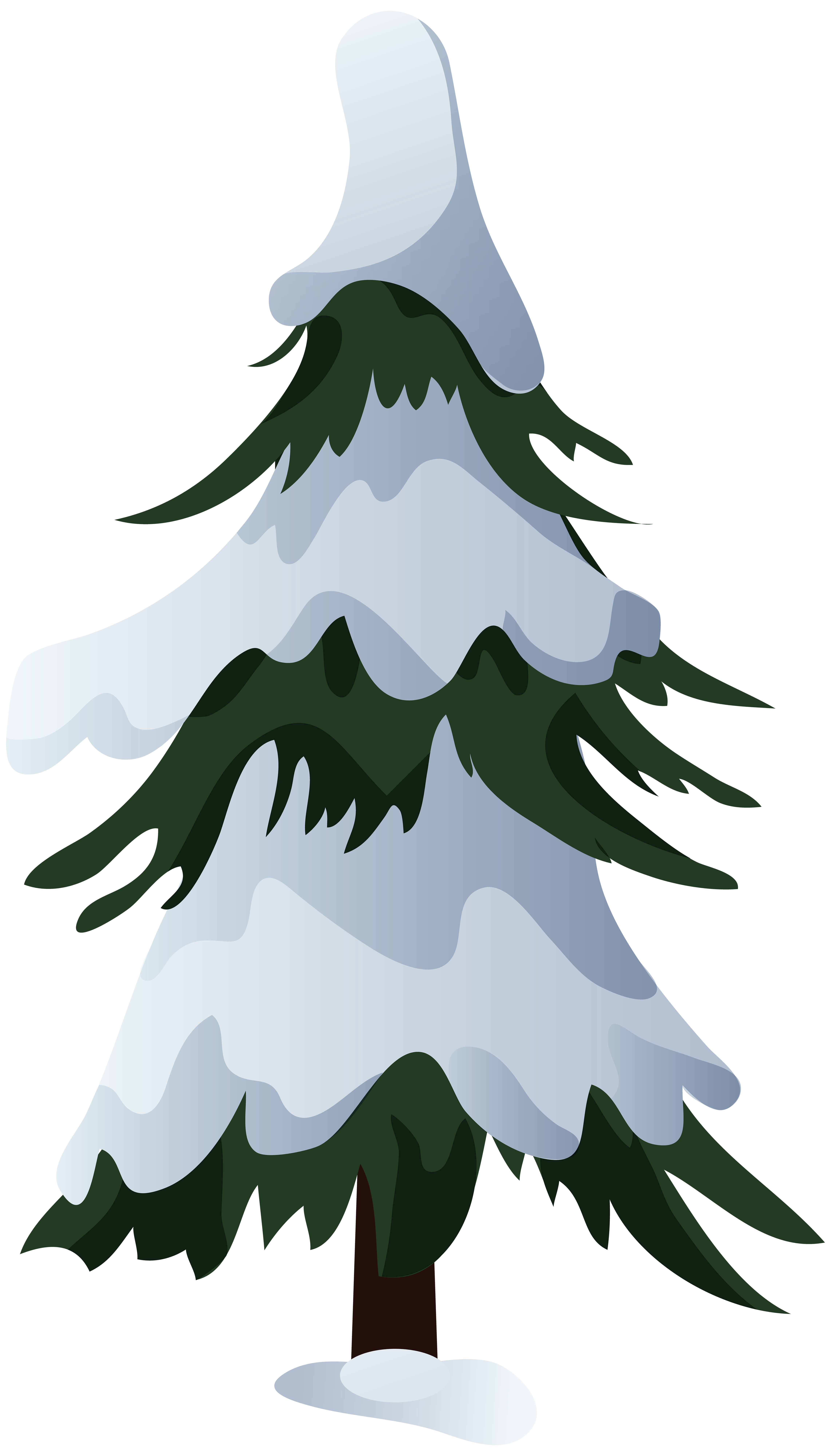 Snow tree clipart jpg free download Snowy Pine Tree PNG Clip Art | Gallery Yopriceville - High-Quality ... jpg free download