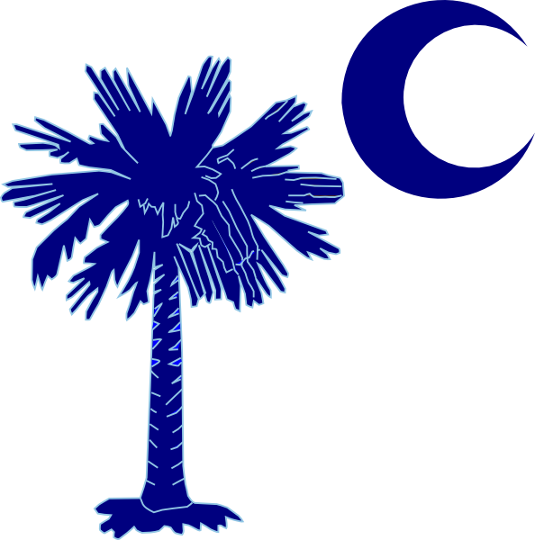 Blue tree clipart vector royalty free library Sc Palmetto Tree - Blue Clip Art at Clker.com - vector clip art ... vector royalty free library