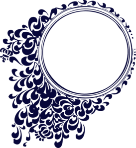 Blue vintage clipart png royalty free Navy Blue Vintage Clip Art at Clker.com - vector clip art online ... png royalty free
