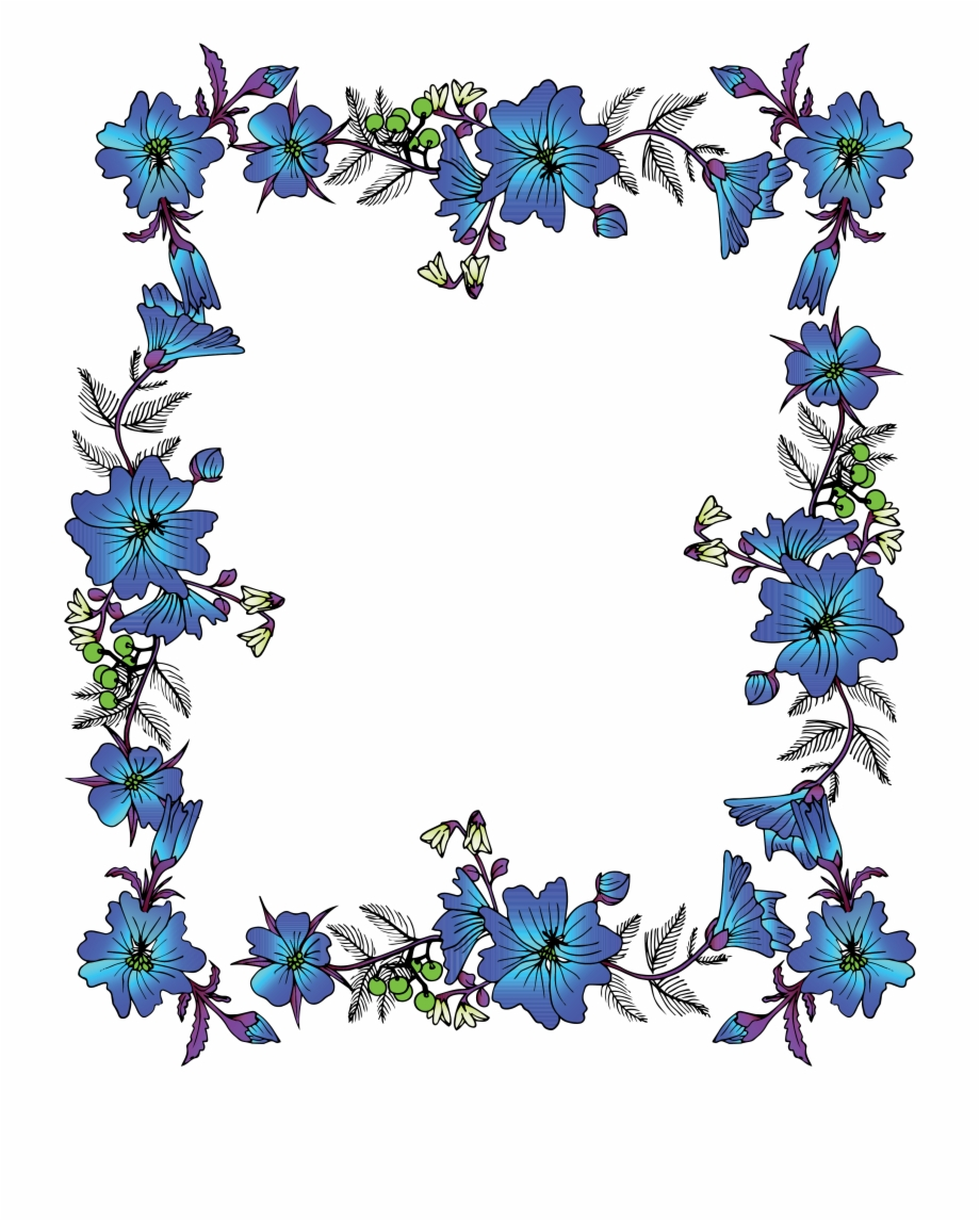 Library Of Transparent Library Floral Frame Png Files