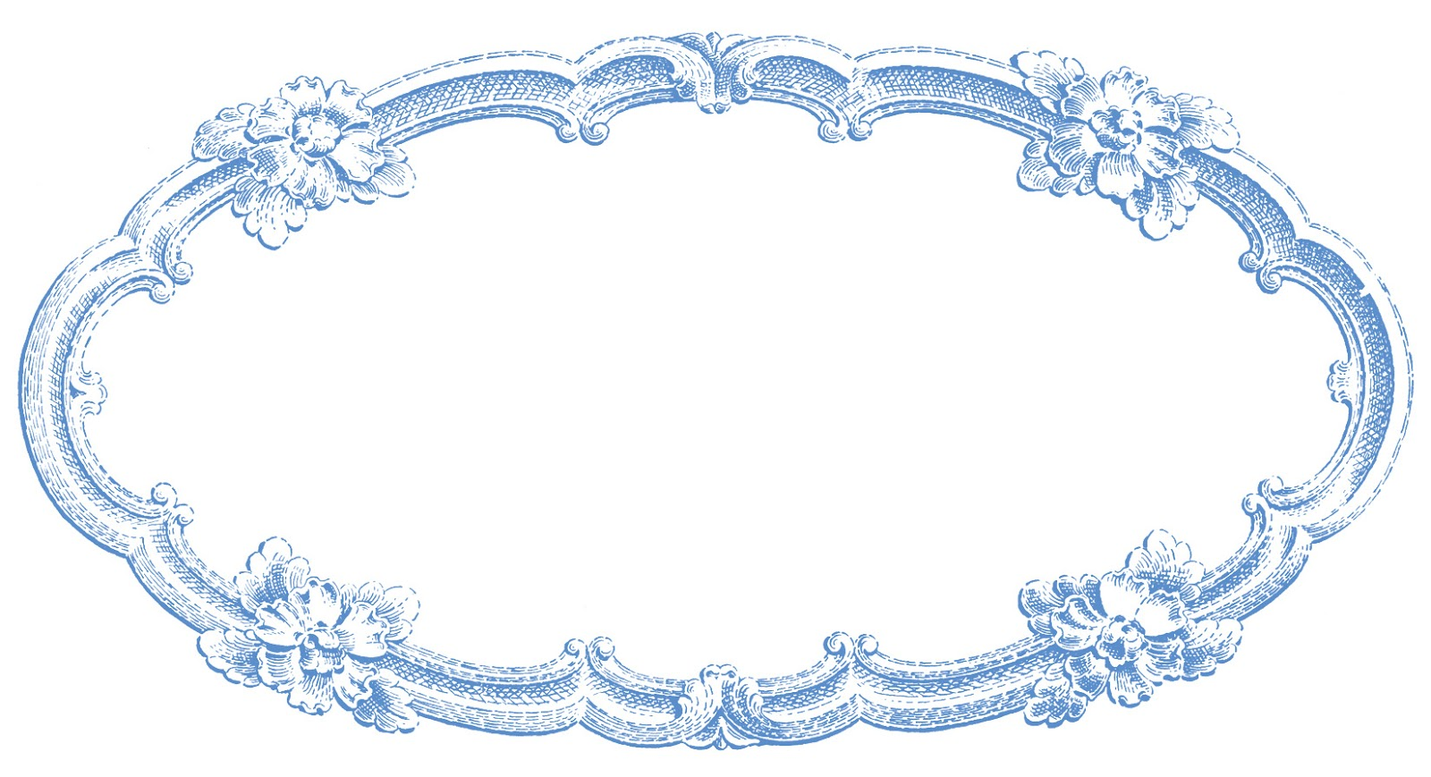 Blue vintage clipart picture freeuse library Vintage Clip Art - Delicate Oval Frame - The Graphics Fairy picture freeuse library