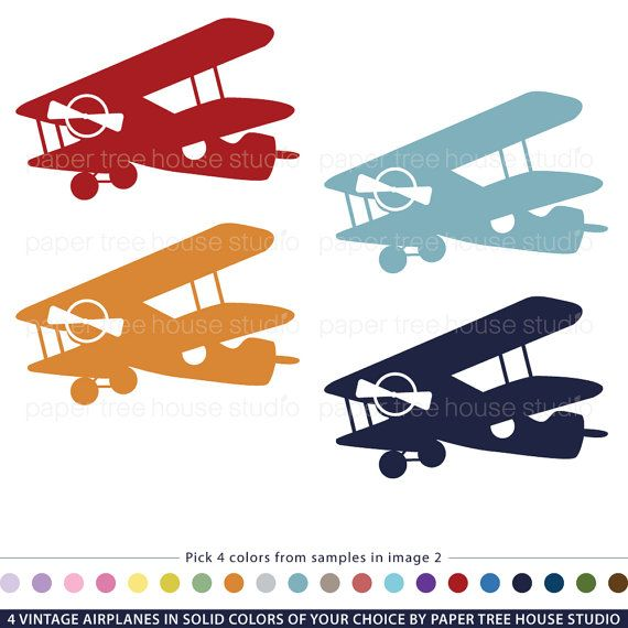 Clipartfest. Blue vintage plane clipart