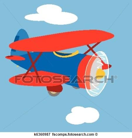 Blue vintage plane clipart. Airplane clip art bay