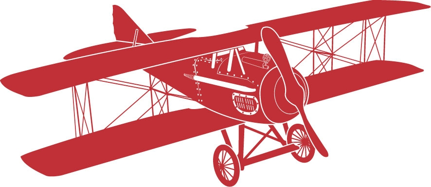 Blue vintage plane clipart image black and white download Vintage Airplane With Banner Clipart - clipartsgram.com image black and white download