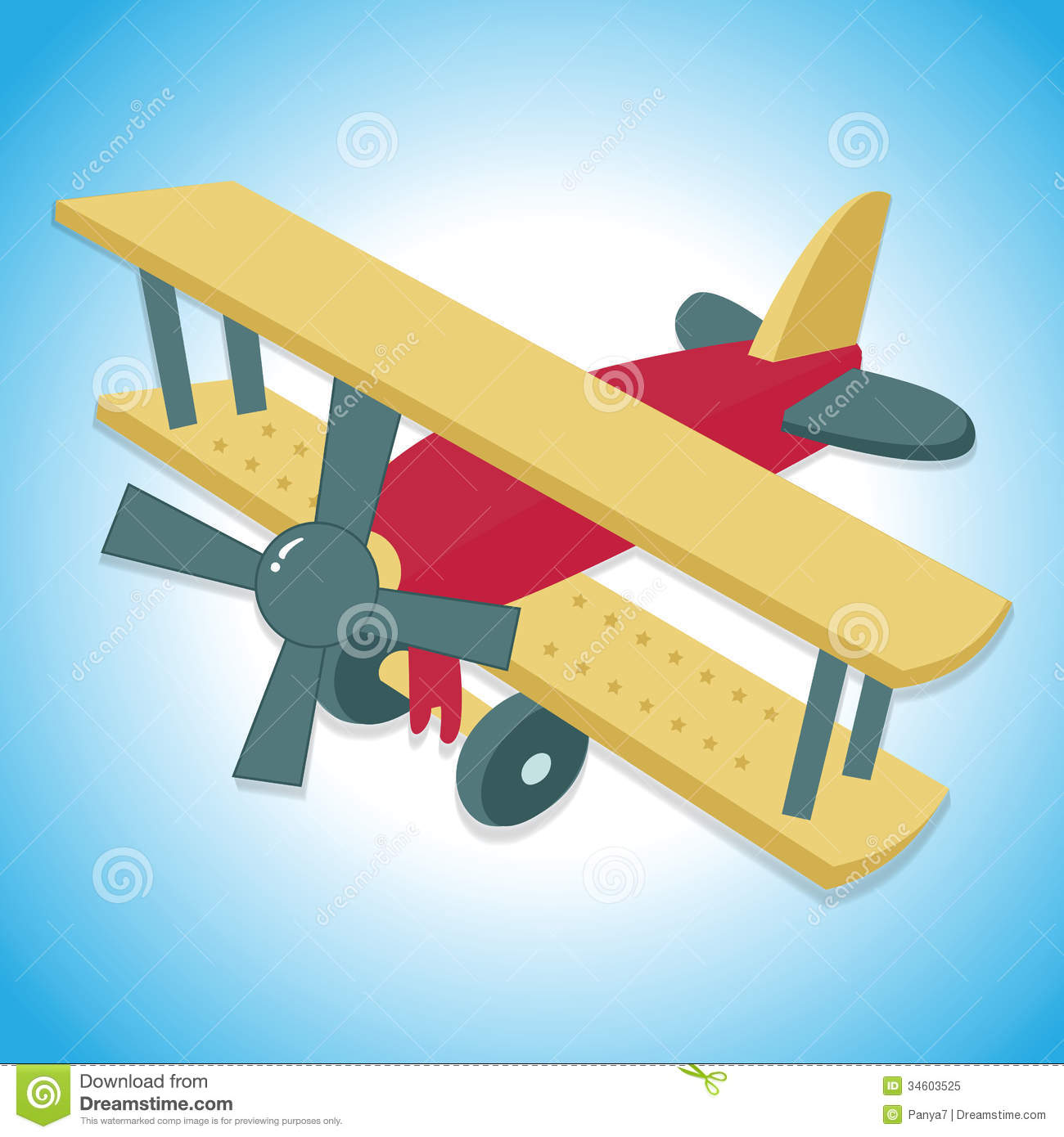 Airplane background royalty free. Blue vintage plane clipart