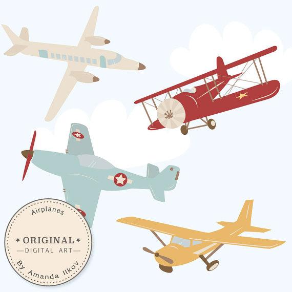 Blue vintage plane clipart. Clipartfest professional airplane