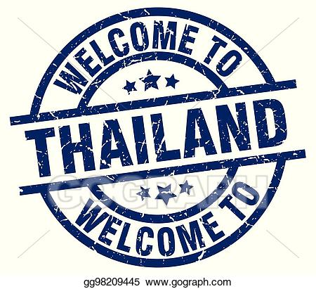 Blue welcome clipart png freeuse download Vector Art - Welcome to thailand blue stamp. EPS clipart gg98209445 ... png freeuse download