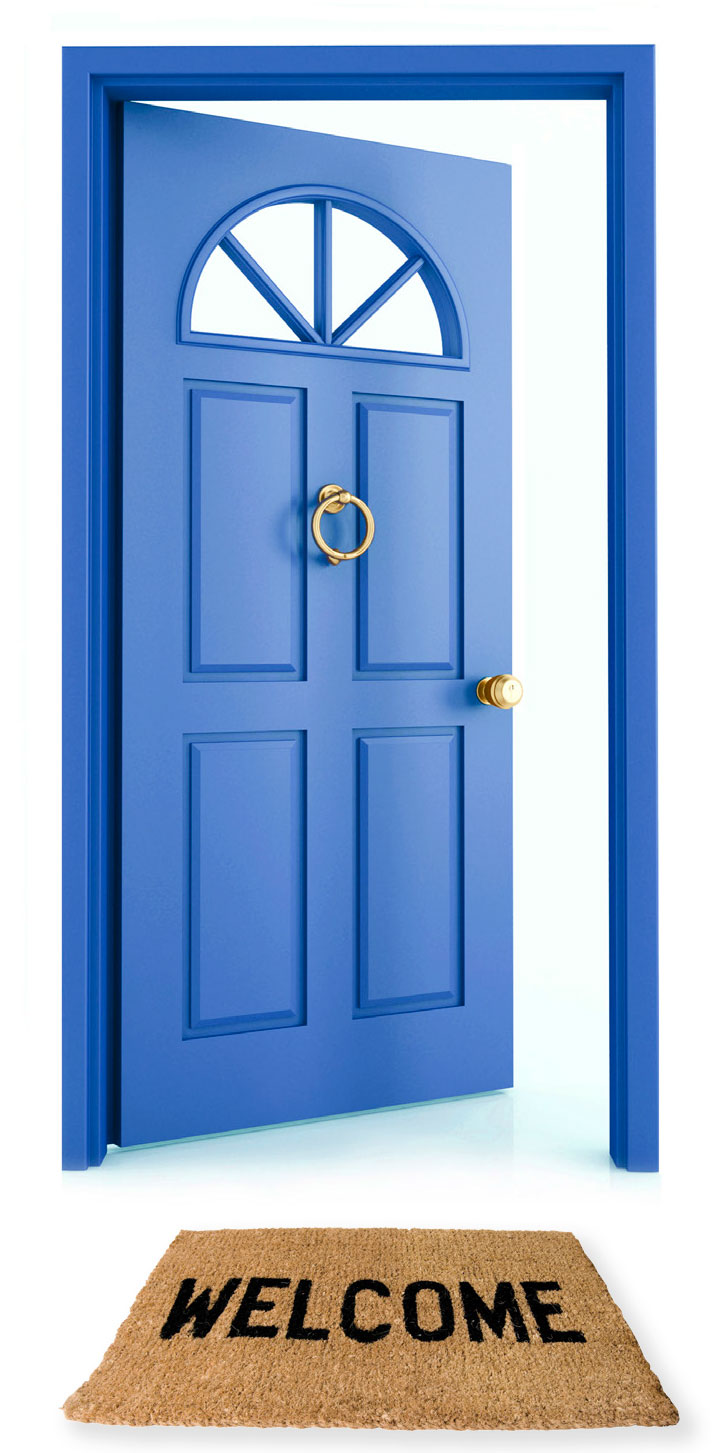 Blue welcome clipart svg freeuse download Welcome Open Door Clip Art, Open Door Welcome A Blue Doorway With ... svg freeuse download