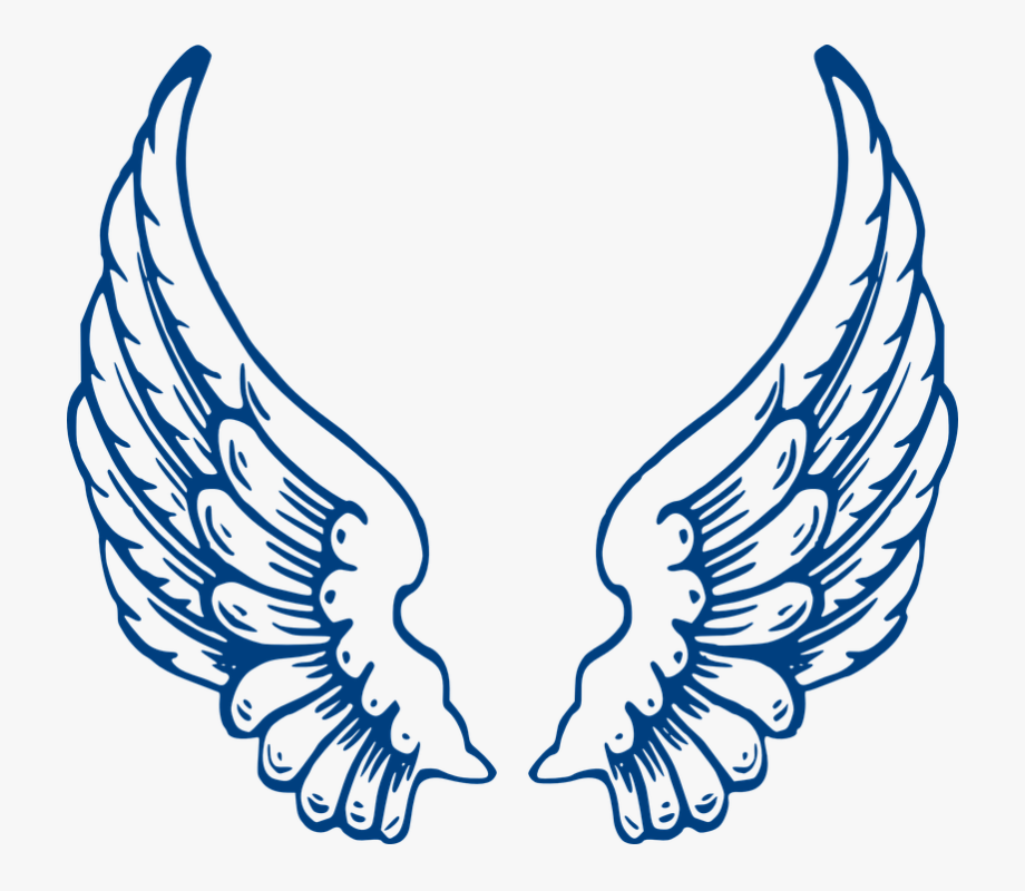 Blue wings images clipart vector black and white download Angel, Wings, Blue, Feathers, Spread - Angel Wings #529246 - Free ... vector black and white download