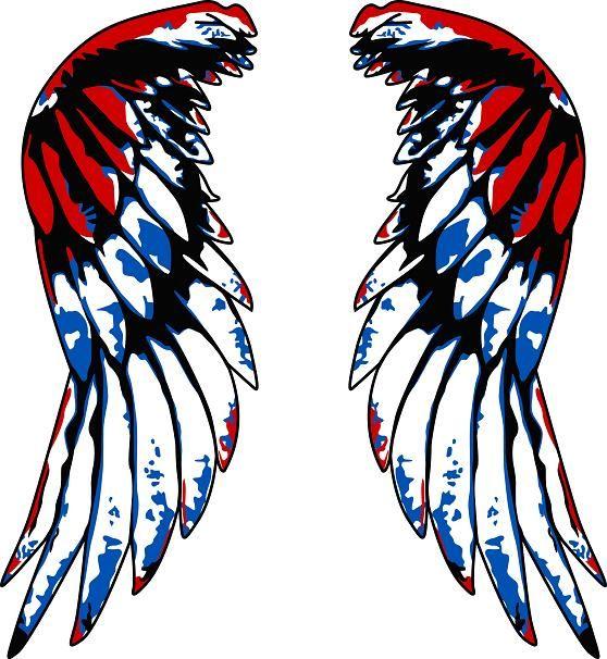 Blue wings images clipart picture transparent Angel Wings Blue Red Design Angel Wings Blue Red Design - Free ... picture transparent