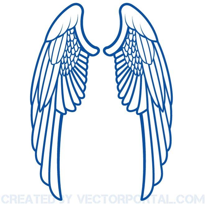Blue wings images clipart graphic freeuse download Wings Clip Art Free Vector graphic freeuse download