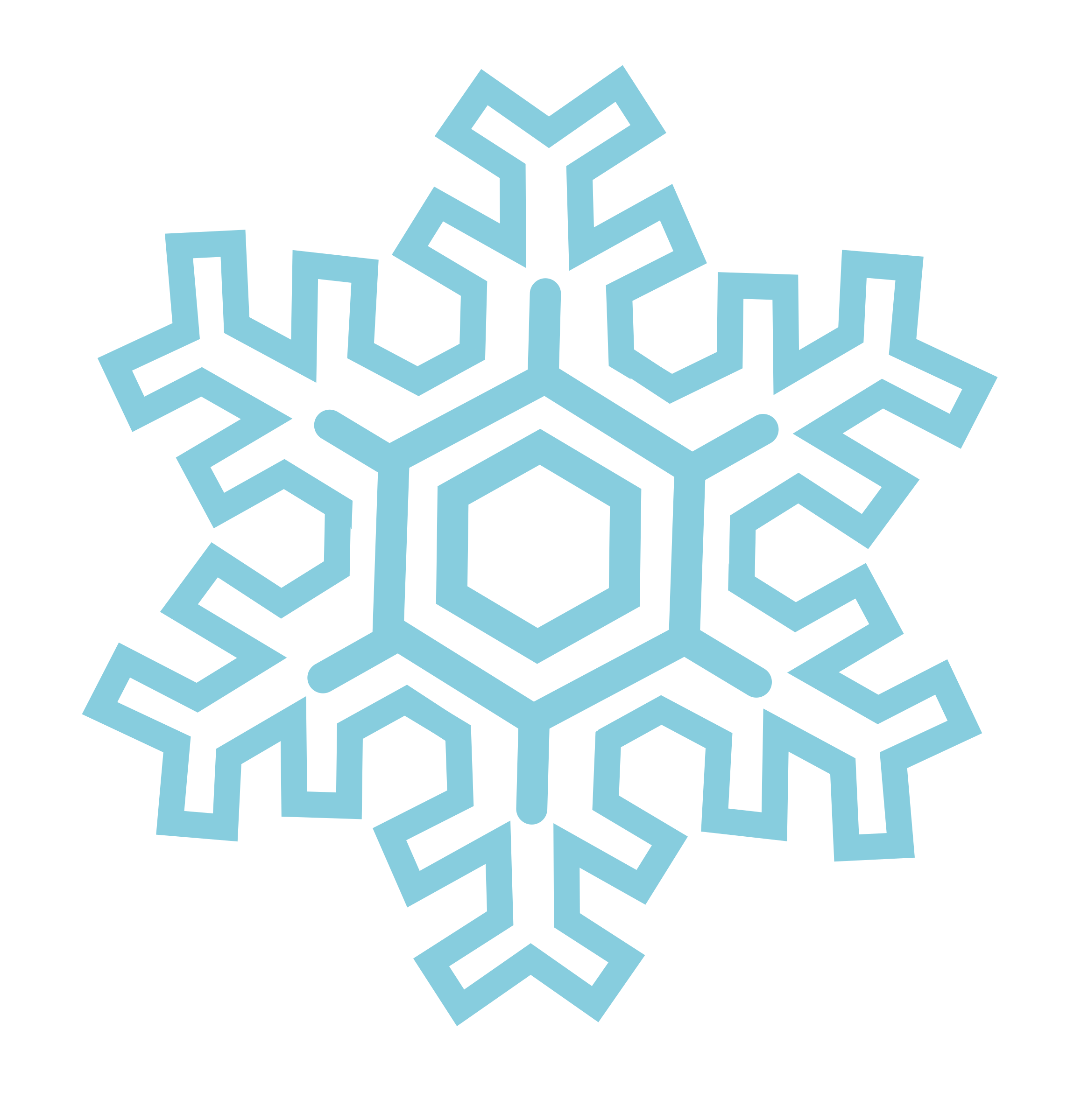 Ice and snowflake clipart jpg black and white Clipart - Snowflake (stylized) jpg black and white