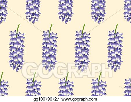Blue wisteria clipart graphic library library Vector Art - Violet blue wisteria on ivory beige background. EPS ... graphic library library
