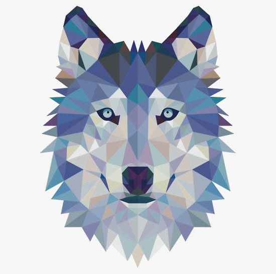Blue wolf clipart jpg black and white library Geometric Wolf Avatar PNG, Clipart, Animal, Avatar Clipart, Blue ... jpg black and white library