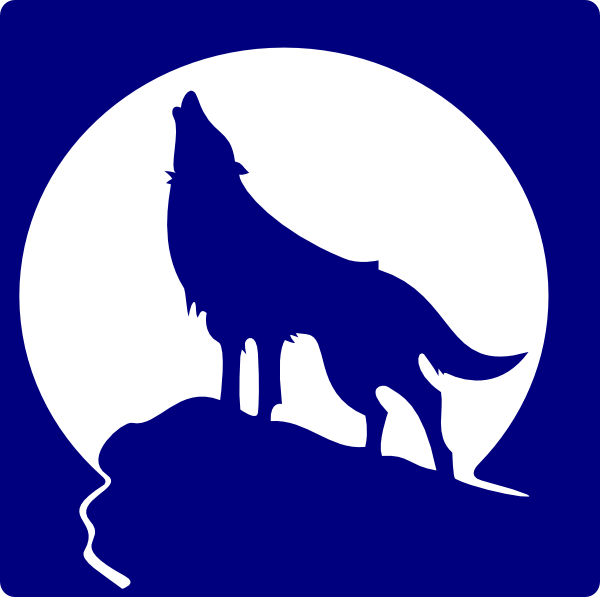 Blue wolf clipart clip art black and white Blue Wolf Silhouette To The Moon Clip Art at Clker.com - vector clip ... clip art black and white