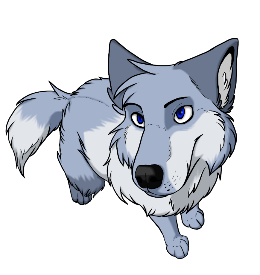 Blue wolf clipart svg transparent stock Dog Puppy Baby Wolves Drawing Cuteness - BLUE WOLF png download ... svg transparent stock