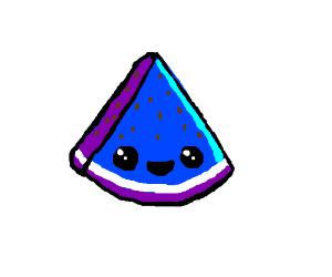 Blue wtaermelon clipart