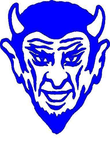 Duke logo clipart royalty free Blue Devils Logo Stencil Outline Version Clipart - Free Clip Art ... royalty free