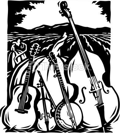 Bluegrass band clipart free Bluegrass Band Silhouette | barn graphic ideas | Bluegrass music ... free