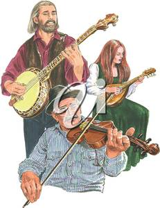 Bluegrass band clipart clip art freeuse Clipart Illustration of a Bluegrass Band clip art freeuse