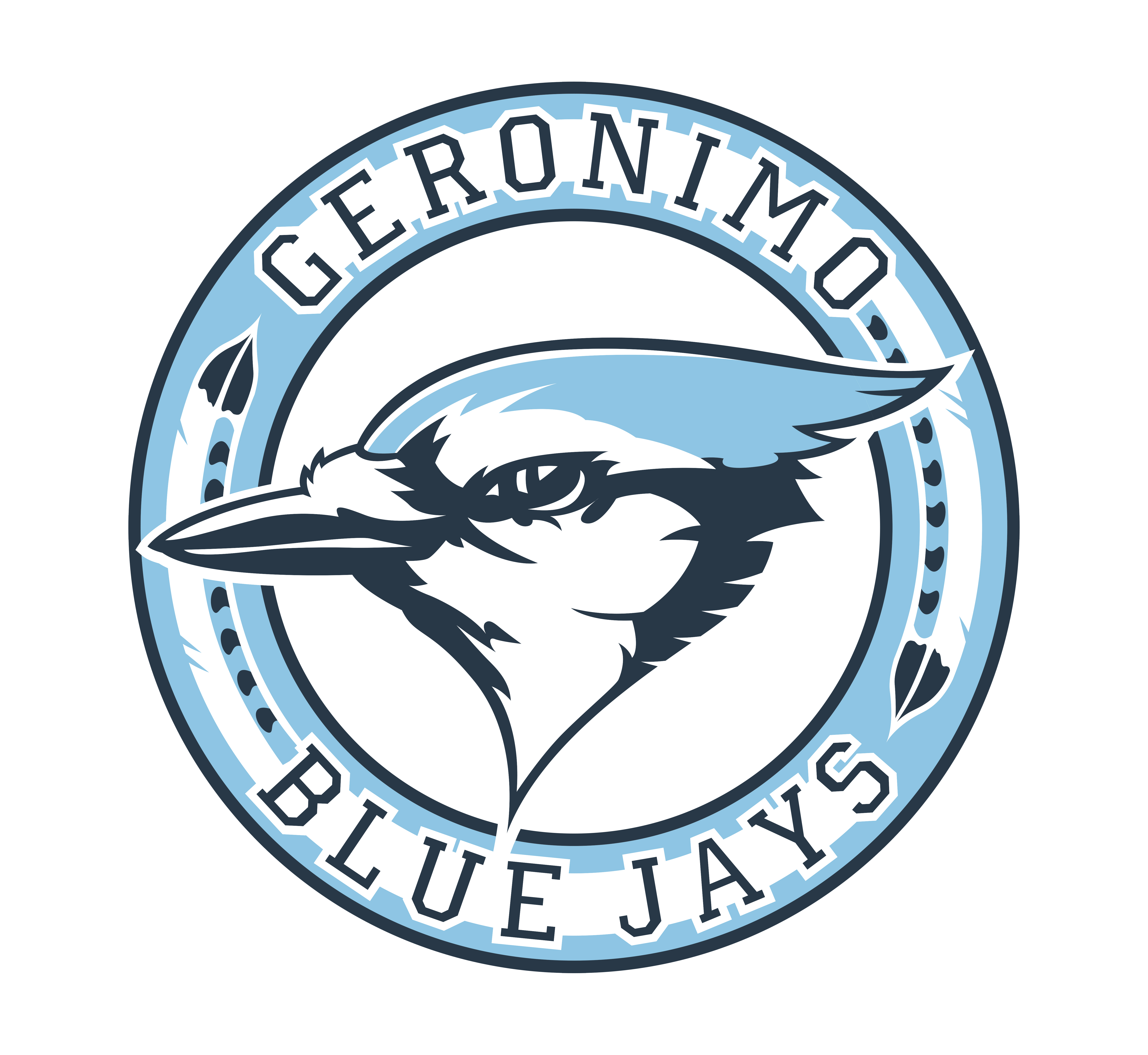 Geronimo - Team Home Geronimo Bluejays Sports picture black and white