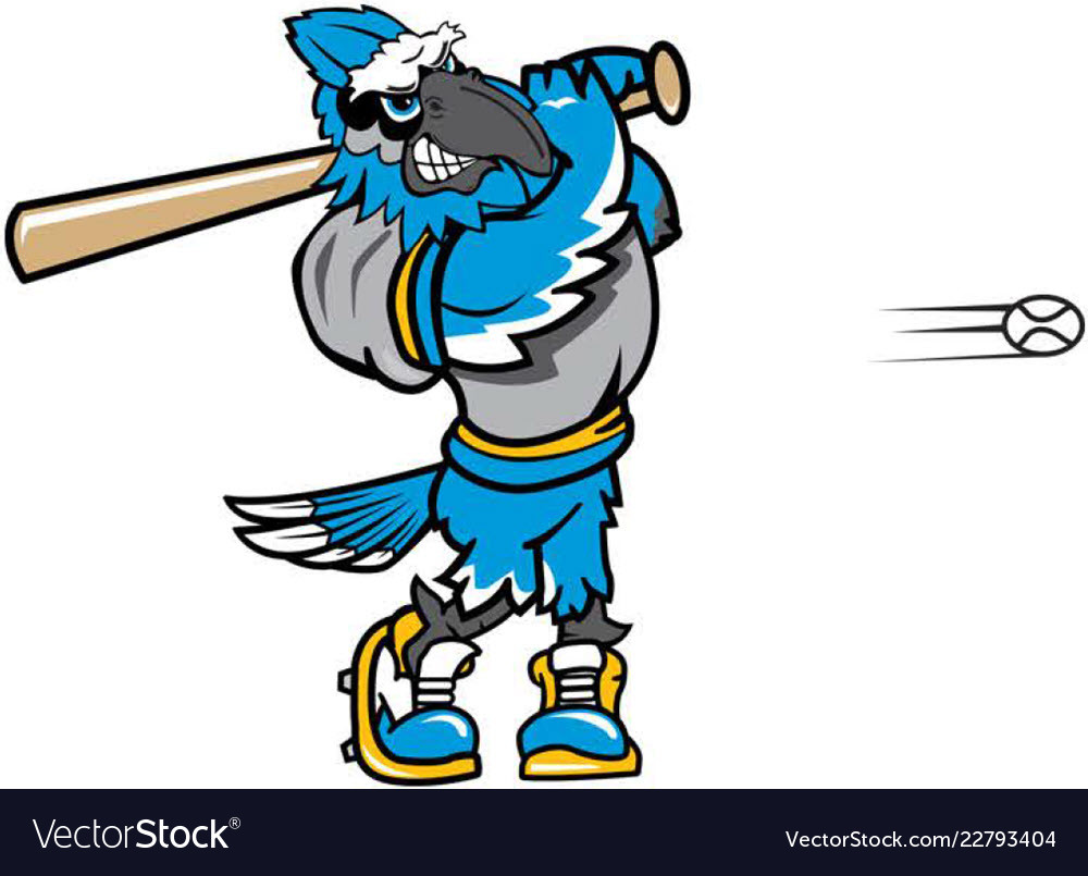 Bluejay mascot clipart svg library library Blue jay baseball sports logo mascot svg library library