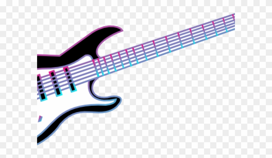 Cool guitar clipart image transparent library Guitar Clipart - Electric Guitar White Blue Vector Free - Png ... image transparent library