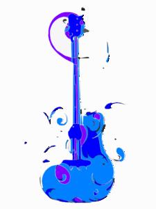 Blues guitar clipart png free Blue Guitar Clip Art at Clker.com - vector clip art online, royalty ... png free
