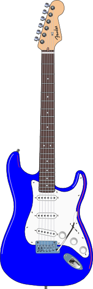 Blues guitar clipart image library library Electric Blue Guitar Clip Art at Clker.com - vector clip art online ... image library library