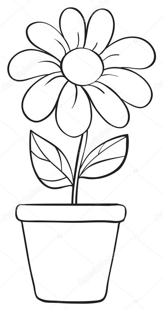 Blume im topf clipart