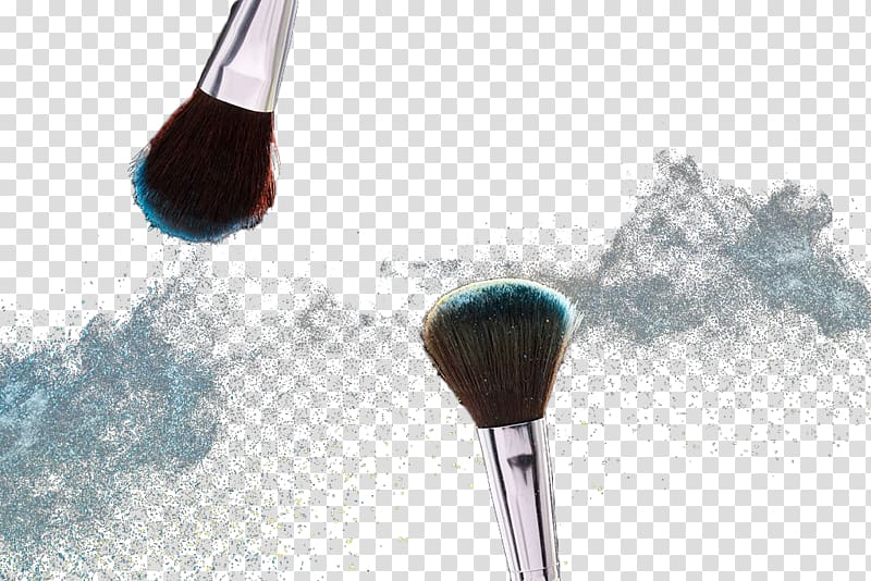 Blush brush clipart picture Two silver makeup brushes, Face powder Brush, Makeup powder brush ... picture