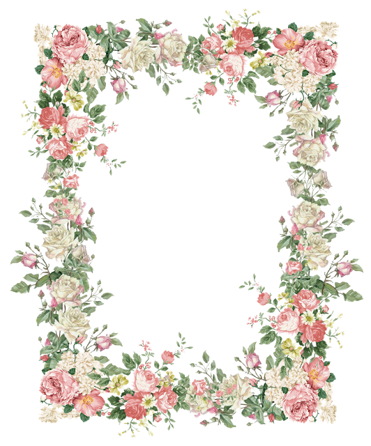 Flower arch clipart svg freeuse stock free faux vintage flower frame png – Vintage Rosenrahmen – freebies ... svg freeuse stock