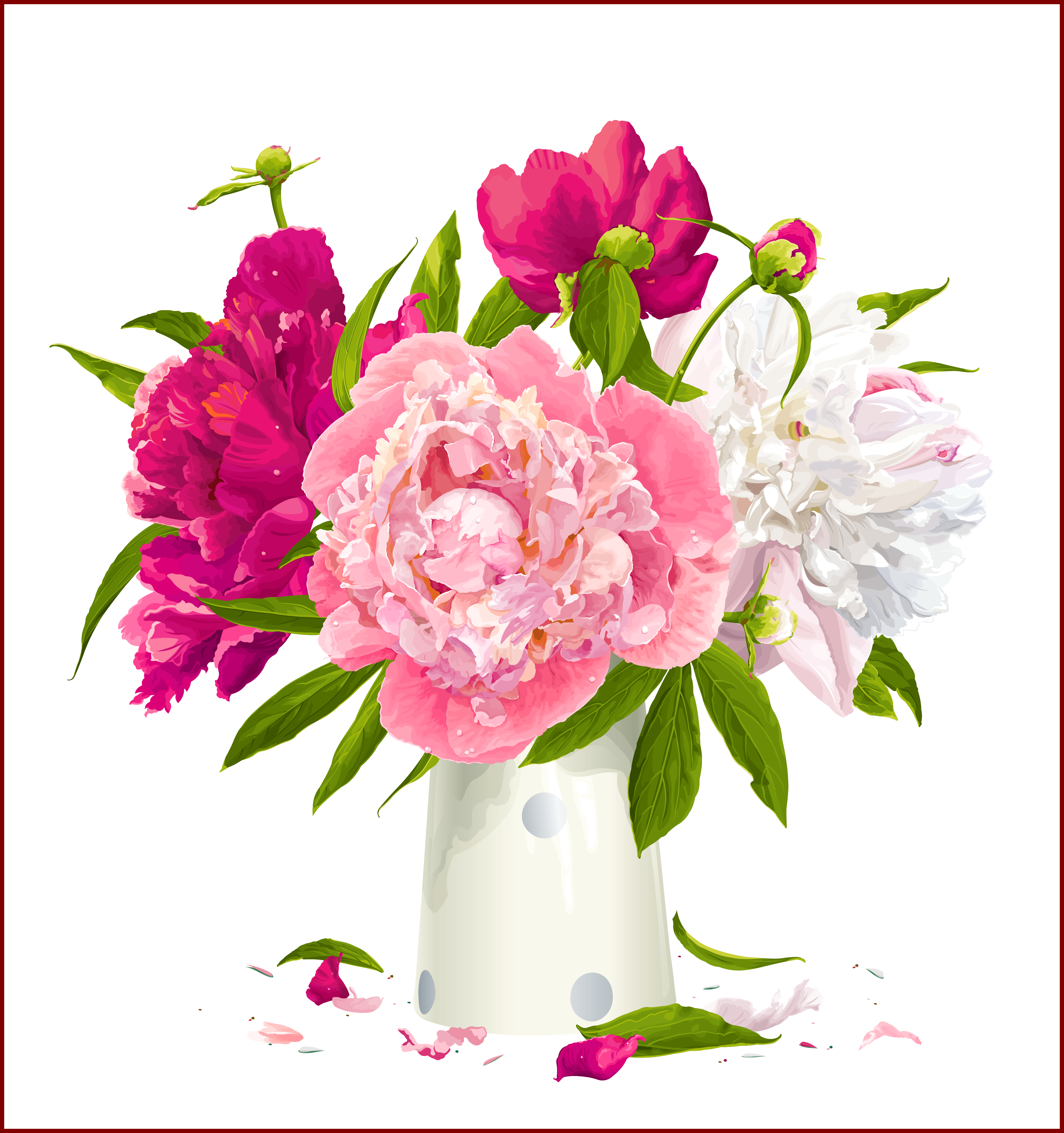 Boho flower clipart graphic freeuse download Incredible Peonies Clip Art On Pics For Peony Flowers Clipart ... graphic freeuse download
