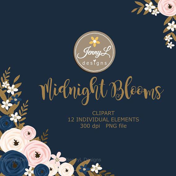 Blush navy and white wedding flower clipart picture royalty free Navy Blue Flower Clipart, Blush Wedding Flowers, Flower, Floral ... picture royalty free