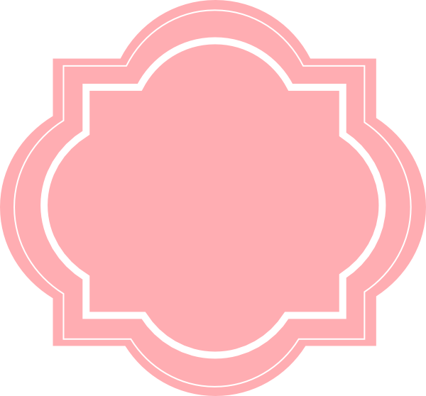 Blush pink flower clipart svg free library Blush Frame Clip Art at Clker.com - vector clip art online, royalty ... svg free library