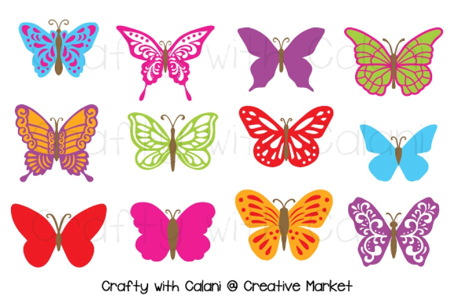 Butterfly pics clipart banner transparent stock Butterfly Clipart in Candy Color banner transparent stock