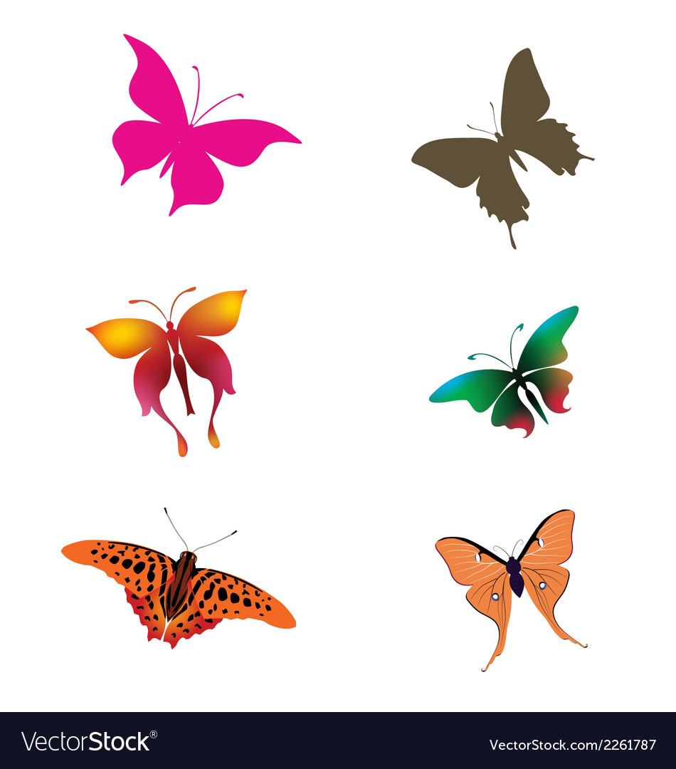 Butterliy clipart vector library stock Collection of Butterfly clipart download vector library stock