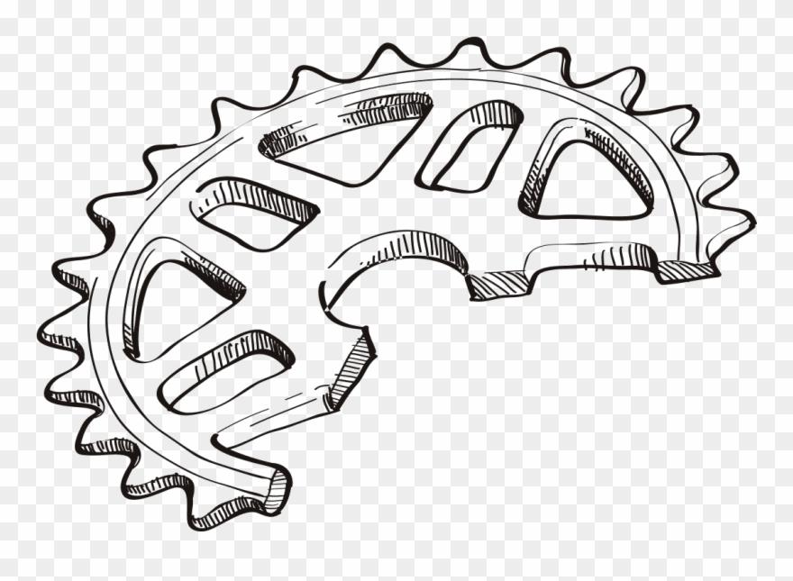 Bmx sprocket clipart image freeuse download Clip Art Freeuse Bmx Drawing Tribal - Drawing Dirt Bike Sprocket ... image freeuse download