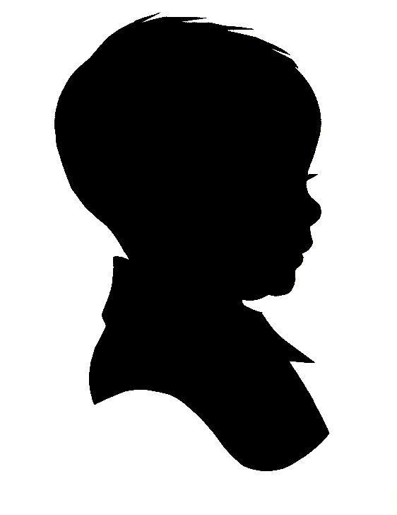 Bo sillohette clipart picture Silhouette artist Karl Johnson at | Gallery Wall | Baby silhouette ... picture